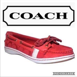 Coach Rainey Boat Shoes
